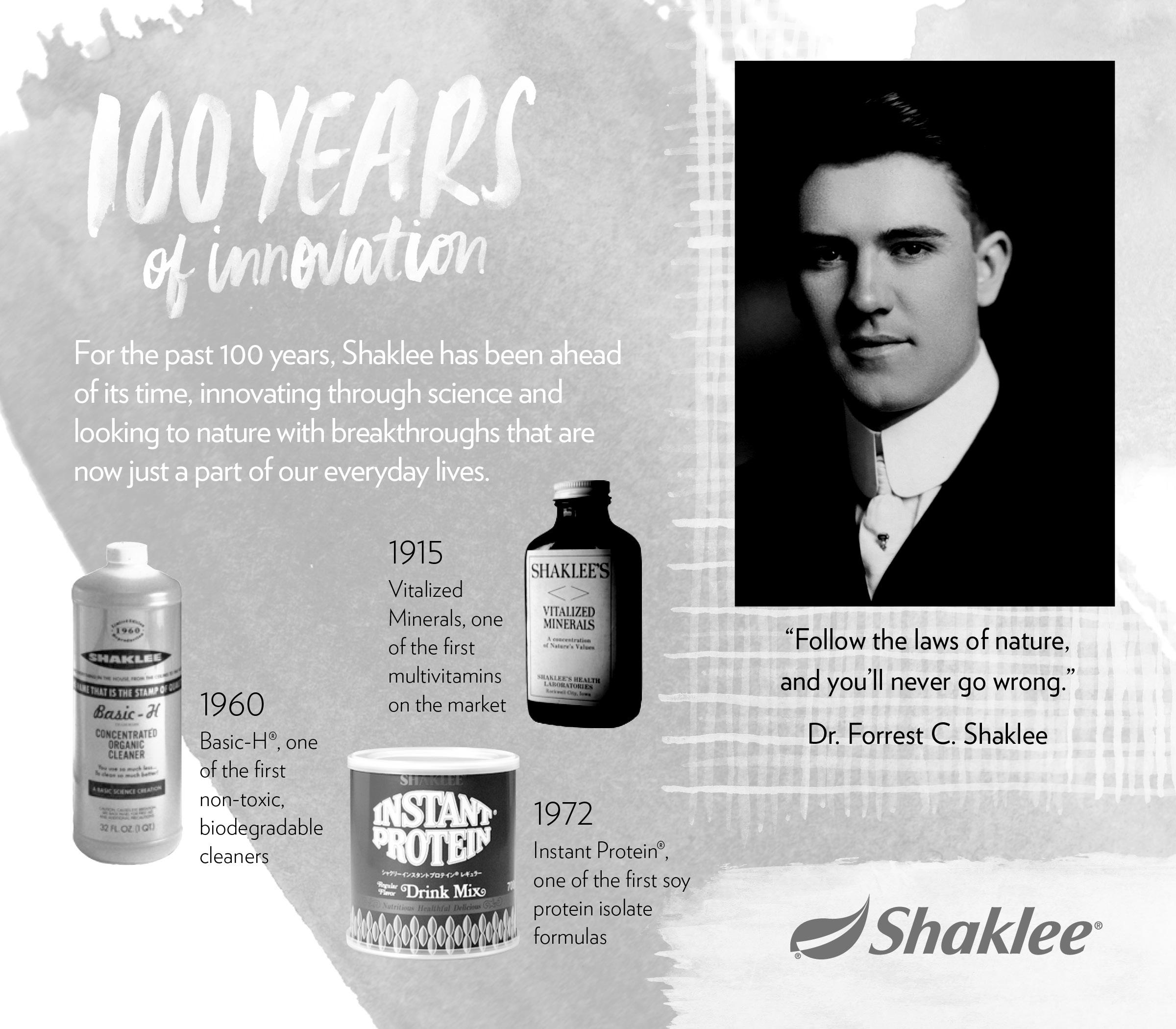 shaklee 100 years