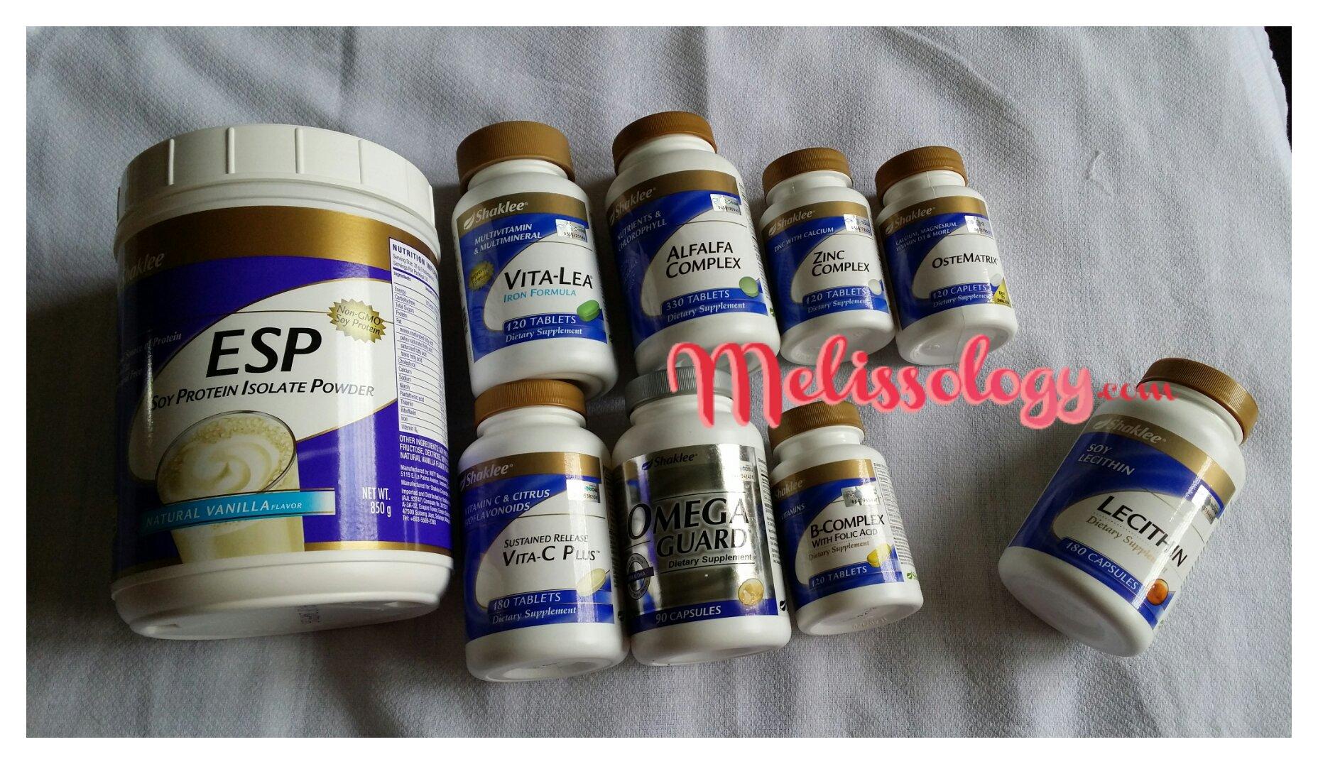 ESP, VitaLea, Vita C, B Complex, Zinc Complex, Alfalfa Complex, Ostematrix, Omega Guard & Lecithin